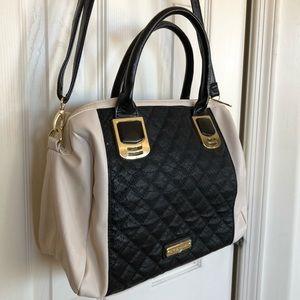 Steve Madden ivory and black handbag